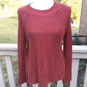 Pink Rose Knit Sweater Rust M